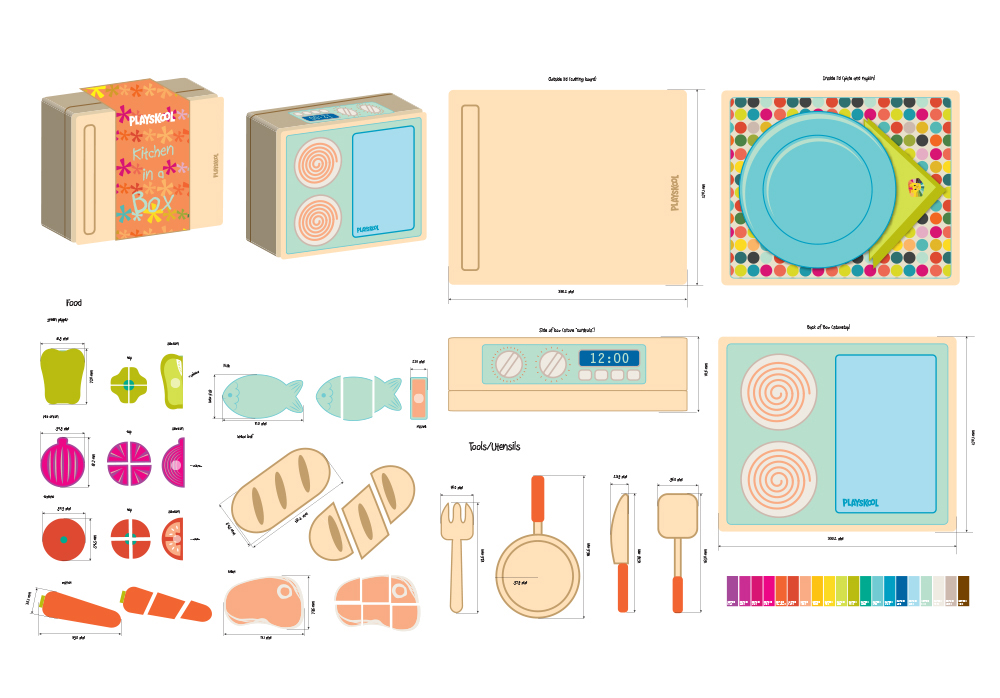Engelmech designs for Playskool kitchen set